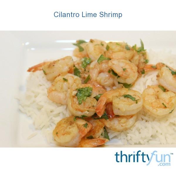 Cilantro Lime Shrimp   ThriftyFun