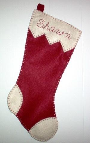 Felt stocking.