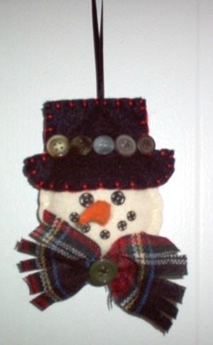 Snowwoman ornament.