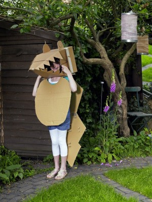 Kids Craft Using Cardboard Boxes