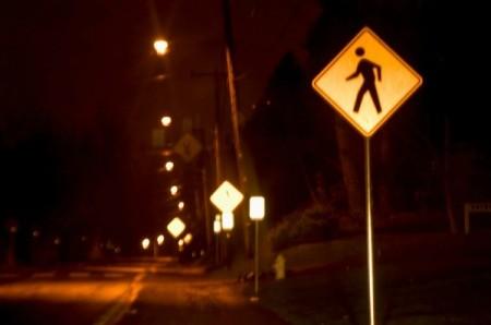 Night Safety Pedestrian Crossing