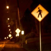 Night Safety Pedestrian Crossing