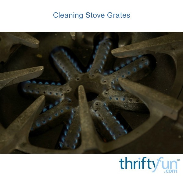 how to clean large stove grates