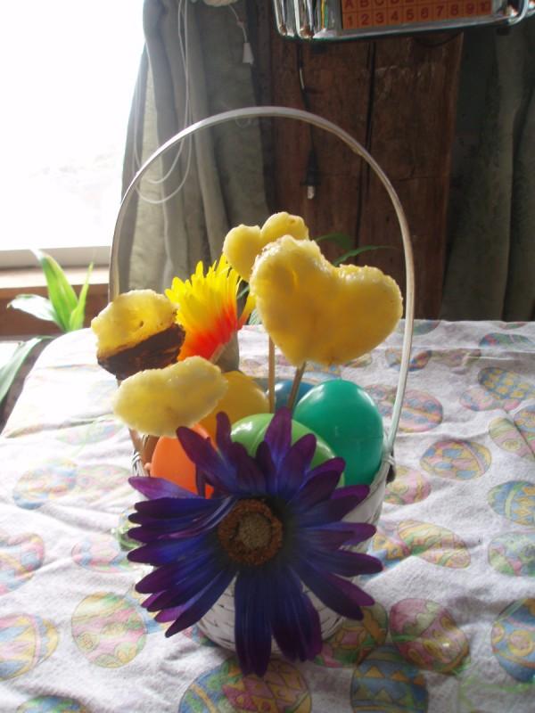Easter basket ideas thriftyfun finished fruit easter basket negle Image collections