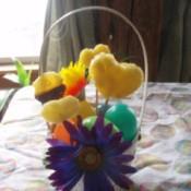 finished fruit Easter basket