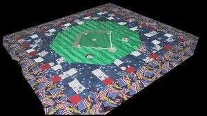 Yankee Stadium quilt.
