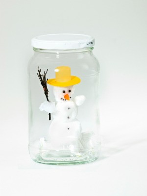 Snowman Jar Craft