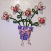 Flower Pot Note Holder