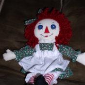 Raggedy Ann doll.