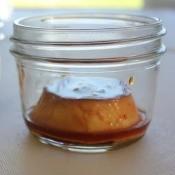 Flan in a mason jar