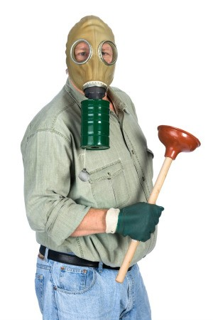 Man Ready to Deal with Stinky Pipes