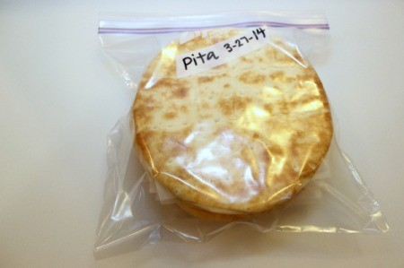 pita in zipper bag