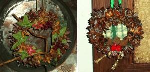 Mini Christmas wreaths.