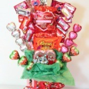 Bouquet made from candy
