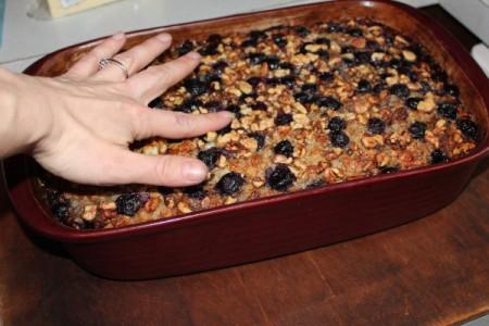 Baked Blueberry Banana Oatmeal