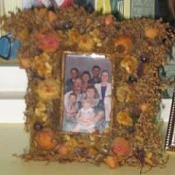 Fall flower floral frame.