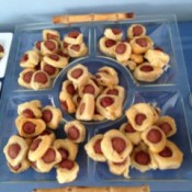 Hot Dog Crescent Roll Appetizers