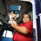 Truck Driver and His Dog