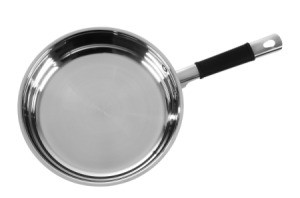 Stainless steel pan.