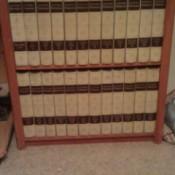 Books on shelf.
