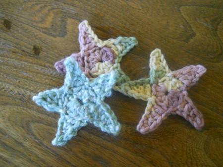 Three finished stars.