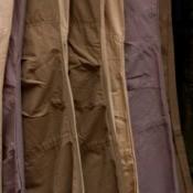 wrinkled slacks