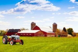 Photo of a beautiful farm.