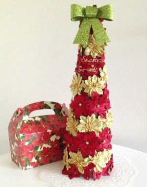 Foam Cone Poinsettia Tree