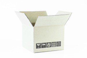 cardboard shipping box