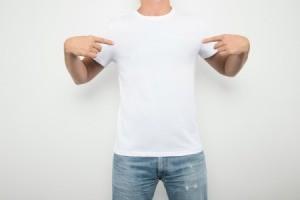 A man wearing a t-shirt.