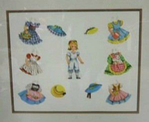 Framing Paper Dolls