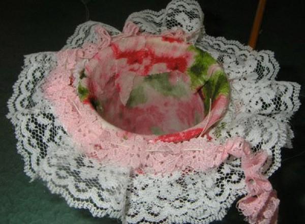 adding pink lace