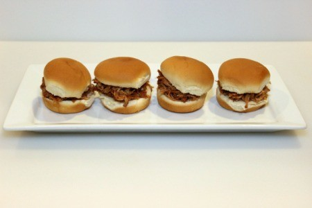 finished pulled pork sandwiches