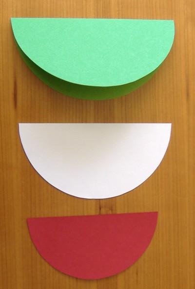 circles folded in half