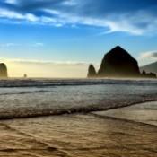 Haystack Rock on the Oregon Coast.