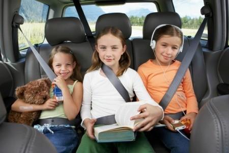 Kids Traveling in Car