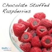 Chocolate Stuffed Raspberries