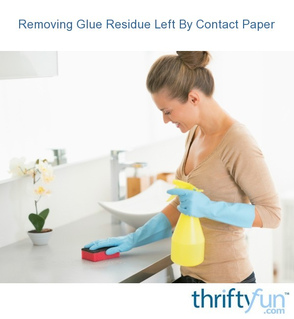 removing glue residue left by contact paper thriftyfun. Black Bedroom Furniture Sets. Home Design Ideas
