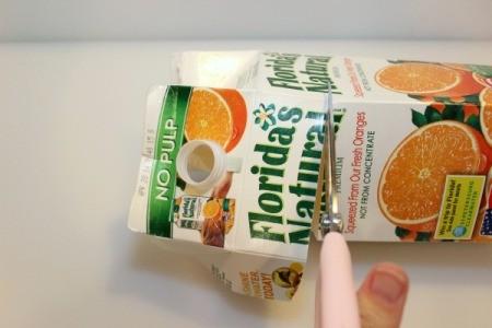 cut spout out of carton