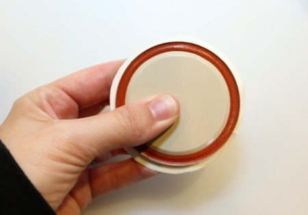use lid to trim spout