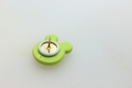 push button onto pin 1