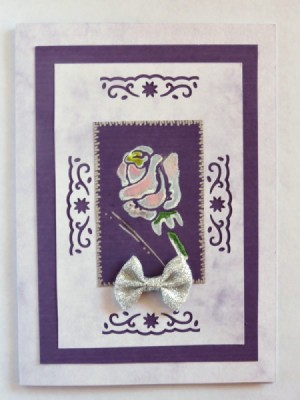 Rose Embellished Birthday Card