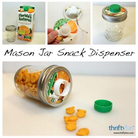 mason jar snack dispenser