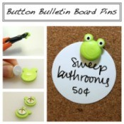 Making Button Bulletin Board Pins