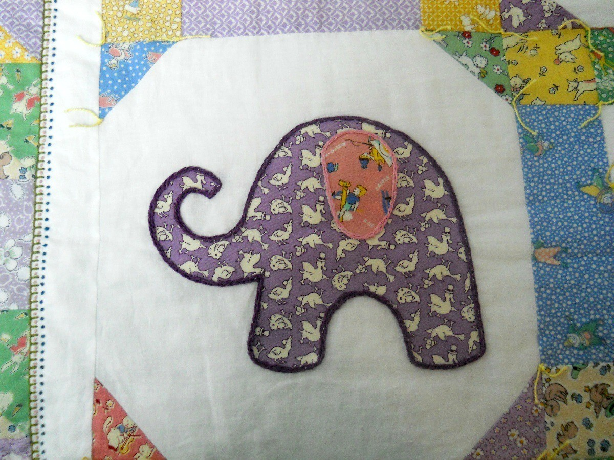 Adding Embroidery Details To A Baby Quilt Thriftyfun