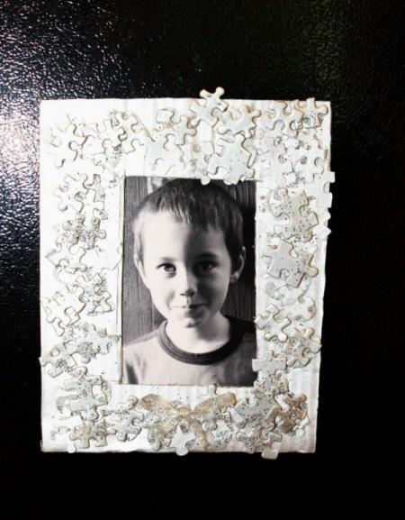 Puzzle Pieces Refrigerator Frame
