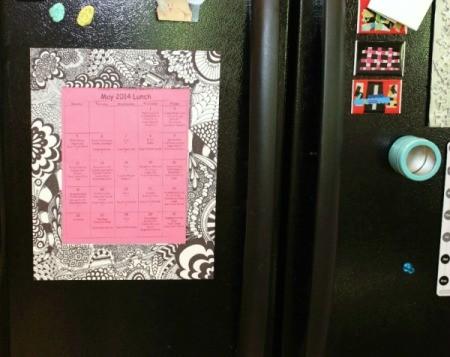 frame on fridge