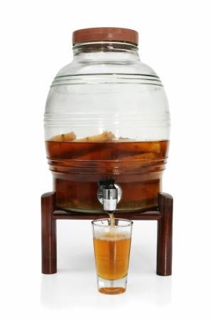 Beverage Jar with spigot.