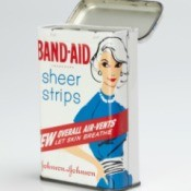 A vintage Band-Aid tin.