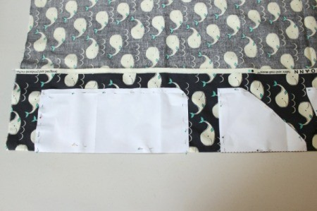 Padded iPad Pouch - pin pattern for front and back flap 2